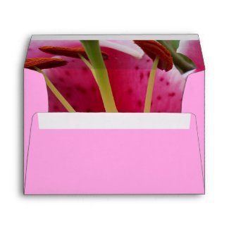 Abstract Pink Lily Envelope envelope
