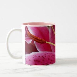 Abstract Pink Lily Mug