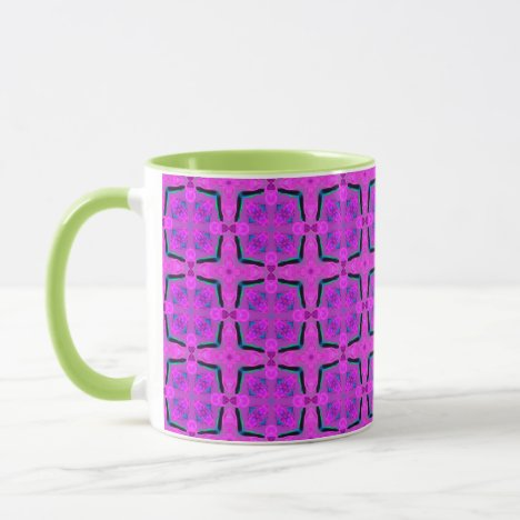 Abstract Violet Pink Geometric Vibrant Cubes Mug