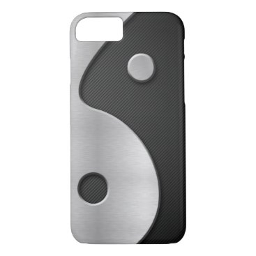 Abstract Yin Yang Carbon and Metal 4G Case