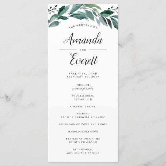 abundant foliage wedding ceremony