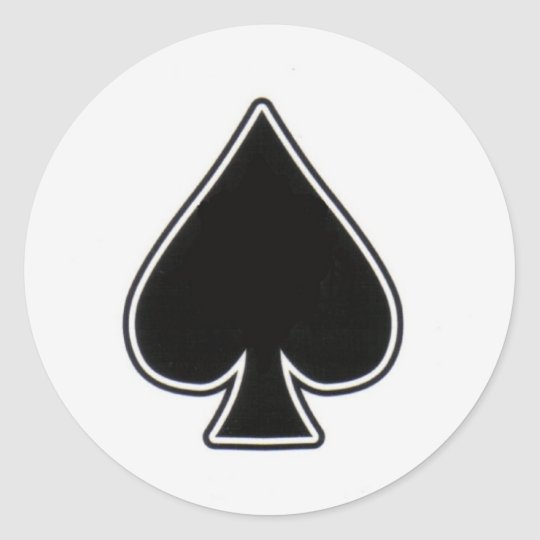 ace of spades classic round sticker  Zazzlecom