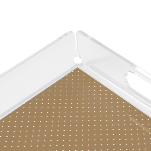 Acrylic Serving Tray Gold with White Dots Square Serving Trays   Zazzle