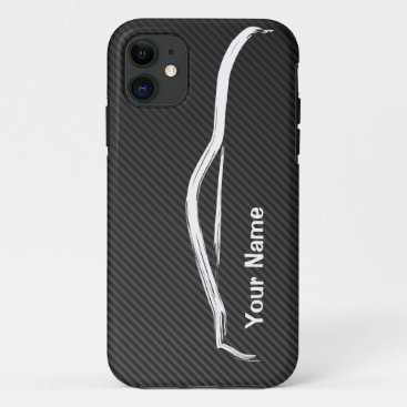 """add your name"" 370z w/ Faux Carbon Fiber iPhone 11 Case"