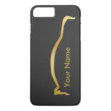 Add your name - Mitsubishi EVO gold silhouette iPhone 8 Plus/7 Plus Case