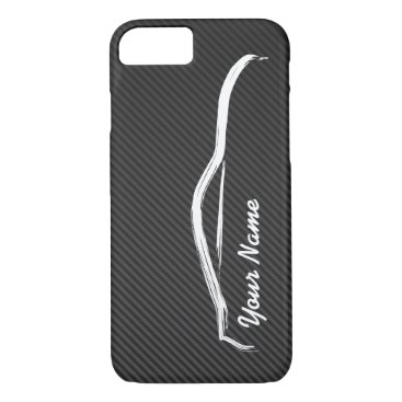 """add your name"" Nissan 350z w/ Faux Carbon Fiber iPhone 8/7 Case"