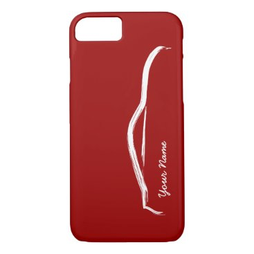 """add your name"" Nissan 370z on Red Background iPhone 8/7 Case"