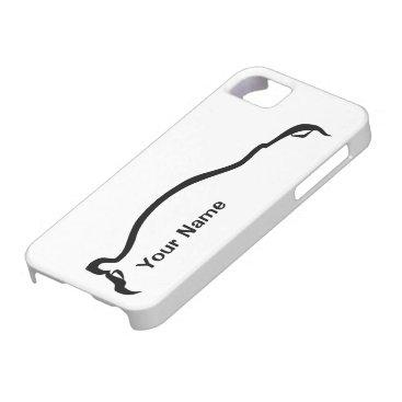 """""""add your name"""" STI Impreza Black Silhouette iPhone SE/5/5s Case"""