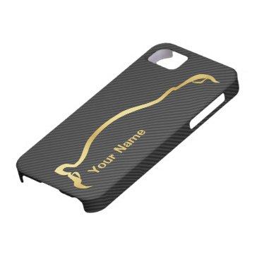 """""""add your name"""" STI Impreza Gold Silhouette iPhone SE/5/5s Case"""