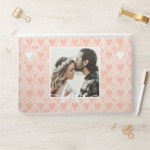 Add Your Own Custom Photo Love Hearts in Rose Gold HP Laptop Skin