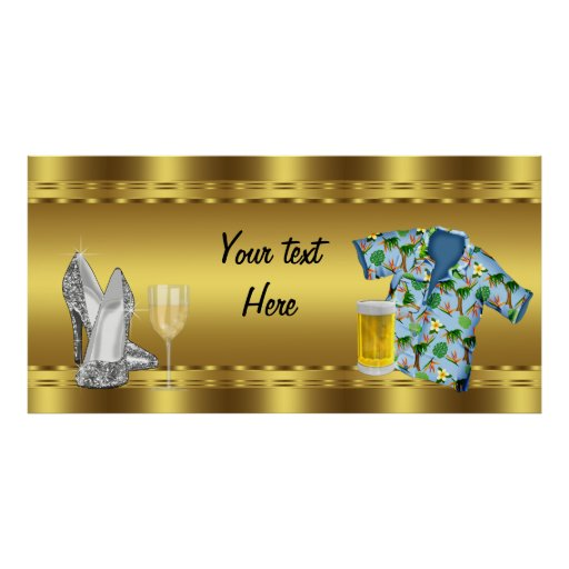 Adult Birthday Party Banner Poster Zazzle