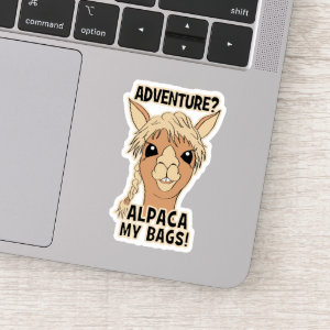 Adventure Alpaca My Bags Contour Cut Sticker