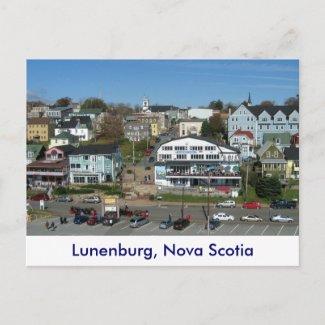 Aerial view of Lunenburg, Nova Scotia postcard