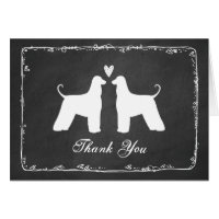 Afghan Hounds Wedding Thank You Card