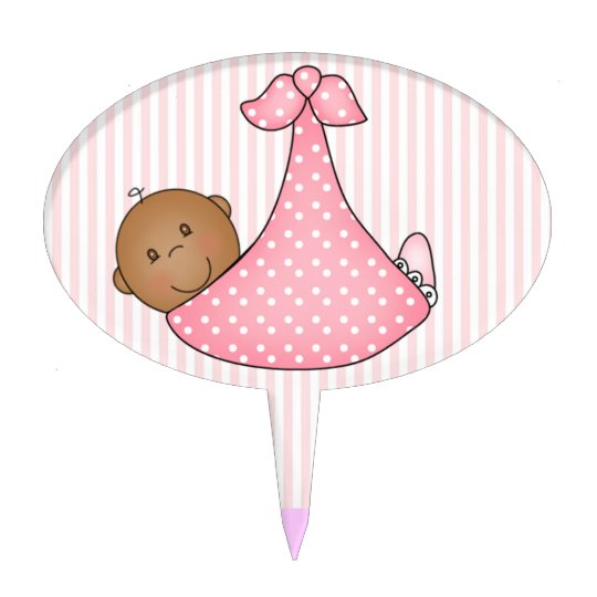 African American Baby Girl Cake Topper  Zazzlecom