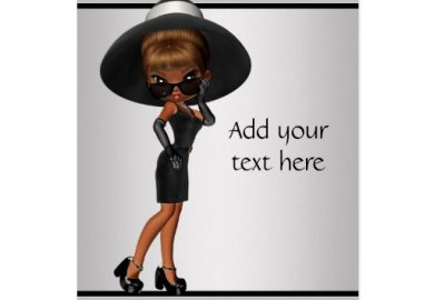 African American Fun Diva Greeting Card