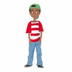 african boy cartoon american little pho statuette achai