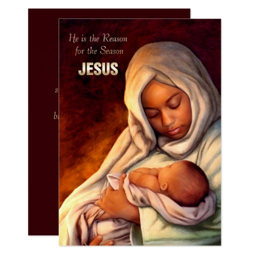 African American Madonna Flat Christmas Cards Zazzle