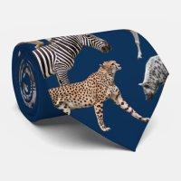 African Animals Tie | Zazzle