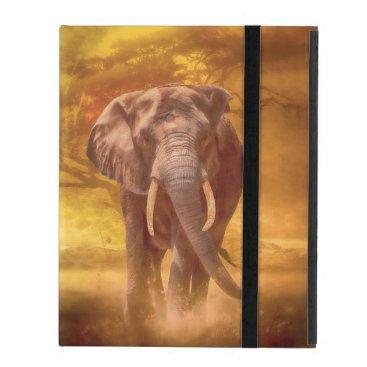 African Elephant Nobility iPad Case