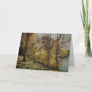 Afternoon Autumn Shadows Card