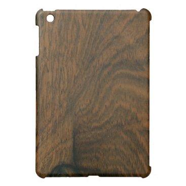 Aged Mahogany Wood Texture iPad Mini Cover
