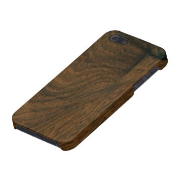 Aged Mahogany Wood Texture Case For iPhone SE/5/5s