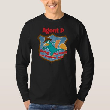 Agent P Saving the world from maniacal evil Badge T-Shirt