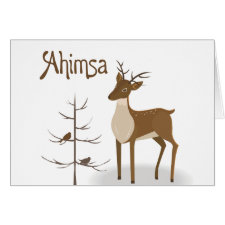 Ahimsa Reindeer Cards