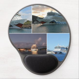 AIDAluna Cruise Ship Collage Gel Mouse Mat