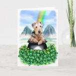 Airedale Terrier Pot of Gold Card