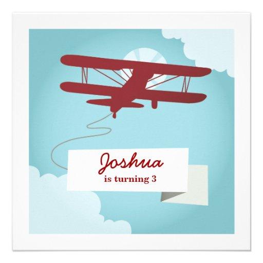 personalized airplane invitations custominvitations4u com