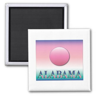 Alabama Airbrush Sunset Refrigerator Magnets