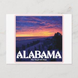 Alabama Dark Sunset Post Card