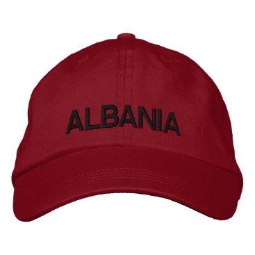 Albania Adjustable Hat  Shqipëri Kapak Me Porosi