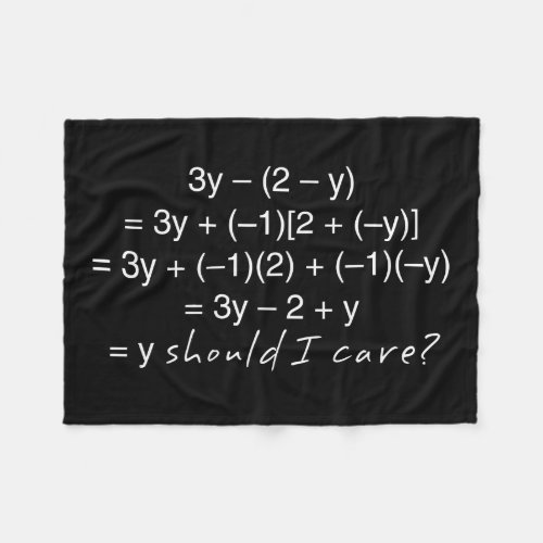 Algebra Why Should I Care Humor Fleece Blanket