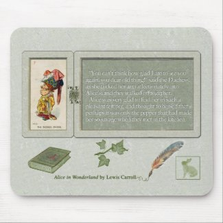 Alice and The Duchess Smiling Mouse Pad