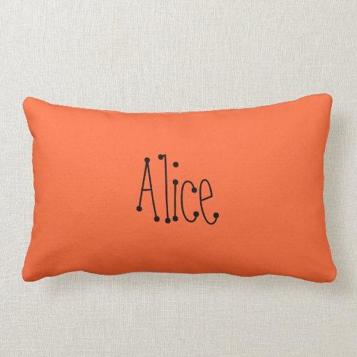 Alice Custom Name Pillow