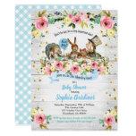 Alice in Wonderland baby boy shower invitation