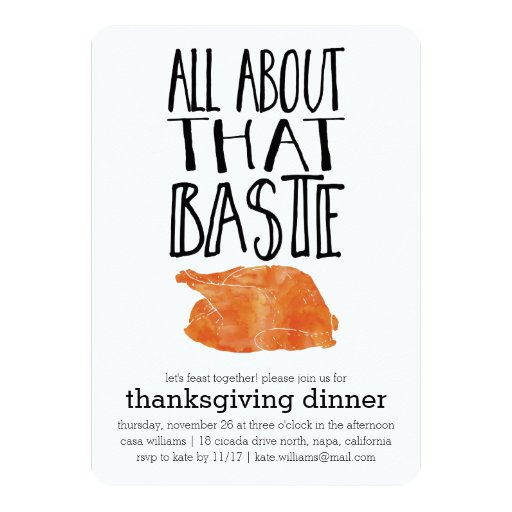 All About that Baste Thanksgiving Dinner Invitation