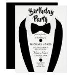 All age Mens Tuxedo Bow Tie Birthday Party Invite