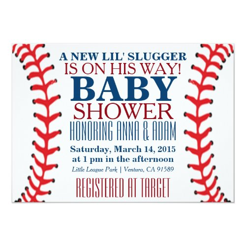 All Star Baseball Baby Shower Invitations