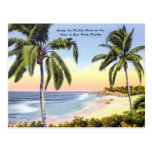Along the Florida Keys vintage Postcard