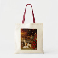 Alpaca Christmas Tote Bag