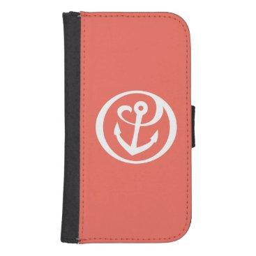 Alpha Sigma Tau Anchor Mark 2 Galaxy S4 Wallet Case