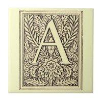 Alphabet Letter A Tile | Zazzle
