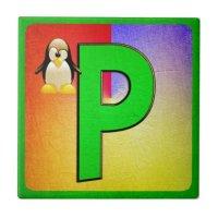 Alphabet Letter P Ceramic Tiles | Zazzle