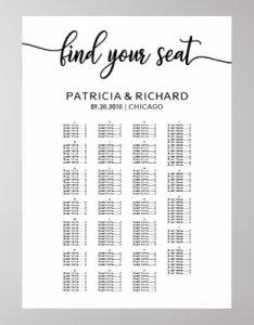 also wedding seating plan board elegant calligraphy poster zazzle rh