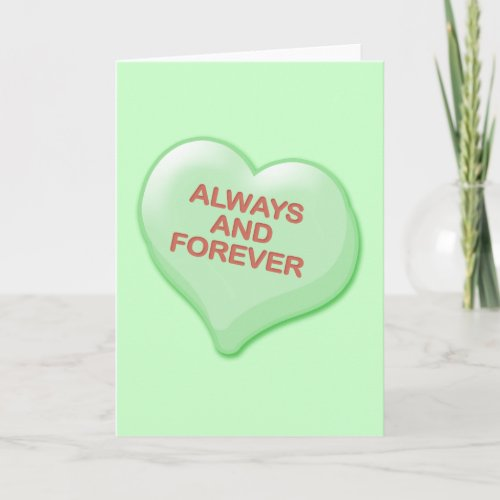 Always and Forever Candy Heart Holiday Card