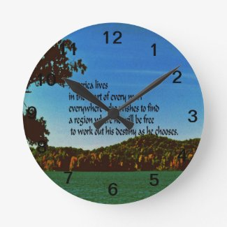 America Round Clocks